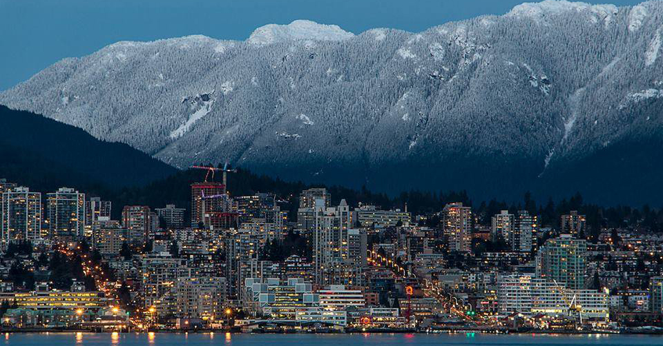 The North Shore Mountins, Vancouver, Canada